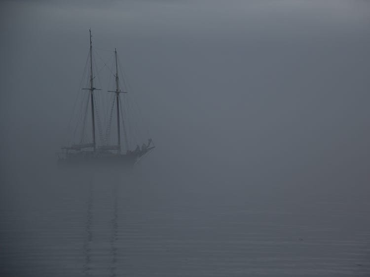 foggy ship
