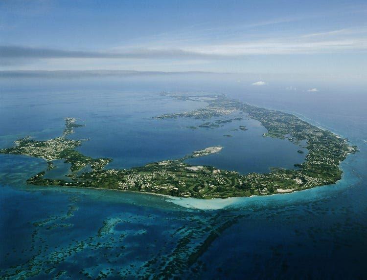 Ariel view of Bermuda