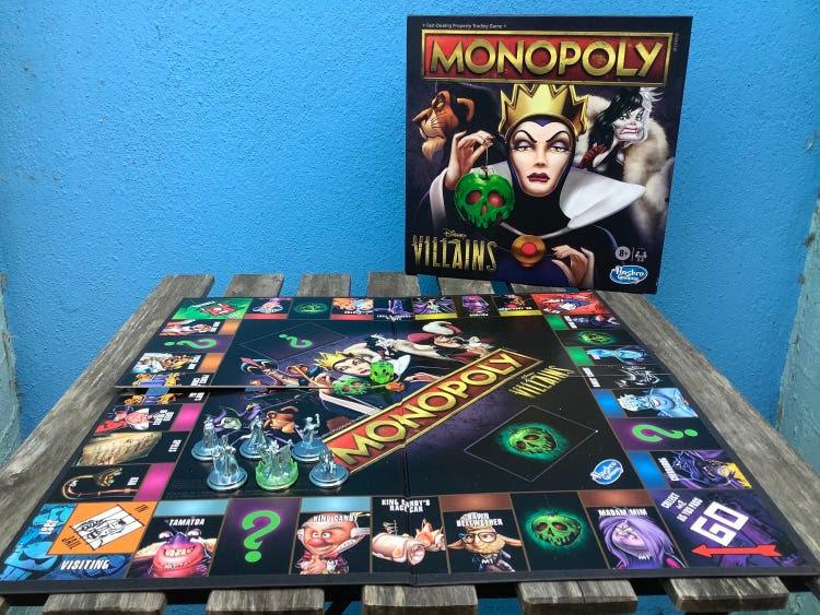 disney villains monopoly board setup.JPG